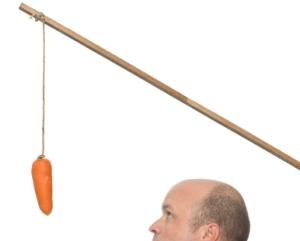 Freelancero va tras la zanahoria